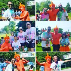 More shots from #OTFWaterloo's first run at the #inrunningcolour #funrun! Everybody had a great time getting blasted with colour!
