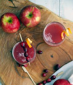 Cranberry Apple Cider Cocktail.