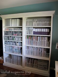 Love this scrapbooking supply organization!