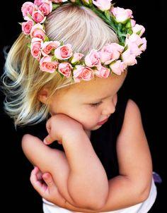 Enjoyable White Silk Hydrangea And Rose Hair Wreath Halo Babies Babies Short Hairstyles For Black Women Fulllsitofus