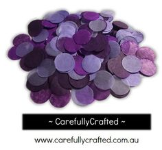 CarefullyCrafted - 25 Grams Tissue Paper Confetti - Purple Shades - 1 inch Circles  - wedding, wedding planning, party, party planning, event, décor, event decoration, paper pieces, purple mix confetti, purple, circle confetti, balloon confetti http://carefullycrafted.com.au/25-grams-tissue-paper-confetti-purple-shades-1-inch-circles-cc3/
