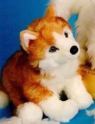 Siberian husky Rubin Russet Husky Stuffed Animal By Douglas Cuddle Toys