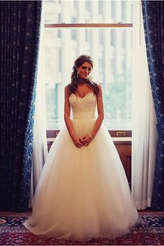 gorgeous San Francisco wedding at the Palace Hotel - photos by SF, bay area wedding photographers Tinywater   Photography HER DRESSS!!!!!