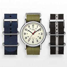 Weekender Silver Tone Watch Set | Timex - Khol's