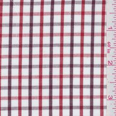 Red checked shirting fabric