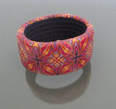 Armband Leana - polymer clay kaleidoscope bangle made from polymer clay by Yvonne Broger (creafimo).