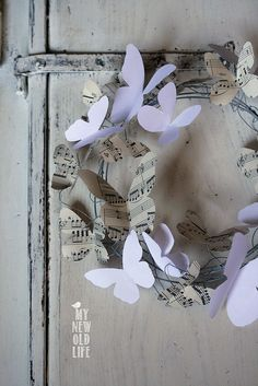ghirlanda farfalle di carta by ferrettieugenia, via Flickr