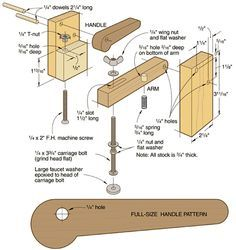 Make your own hold-down clamp like the one shown here.