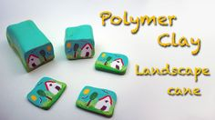 Diy Polymer clay tutorial. How to make a country landscape