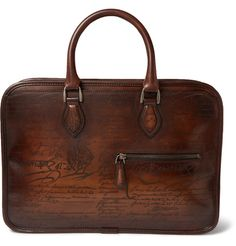 Berluti Mini Un Jour Burnished-Leather Briefcase | MR PORTER