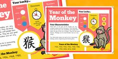 Chinese New Year of the Monkey Display Poster - Twinkl