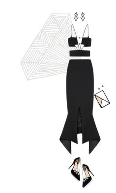 """""""EMA 2015"""" by land ❤ liked on Polyvore featuring Maticevski, Christian Louboutin, Roger Vivier, Elise Dray, Mark Broumand, Effy Jewelry, RedCarpet and EMA2015"""