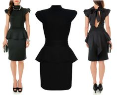 Black capped sleeve short #dress! A perfect evening wear outfit!