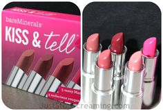 Kiss and Tell Lipstick from Bare Minerals #Makeup #Beauty