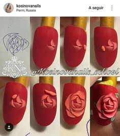 nail art could be a technique for decorating nails that makes 3 dimensional styles. this could embrace adding gems or little charms to the nails, or victimization acrylics created in. Us Nails, Love Nails, Nail Art Fleur, 3d Acrylic Nails, 3d Flower Nails, 3d Nail Designs, Nail Art Techniques, Nailart, Luxury Nails