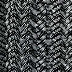 Timeless Treasures House Designer - Foxy Owl - Chevron in Black/White (curtain fabric)