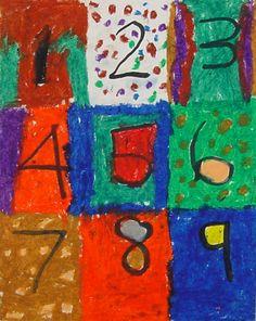 Art Projects for Kids ~ Jasper Johns