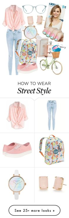 """""""Pink Blush"""" by andreajabueg on Polyvore featuring New Look, Kate Spade, Miquelrius, Vans and Givenchy"""
