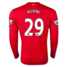Liverpool Jersey 2015/16 Home LS Soccer Shirt #29 BORINI