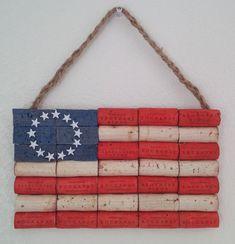 UPcycled Wine Cork American Flag