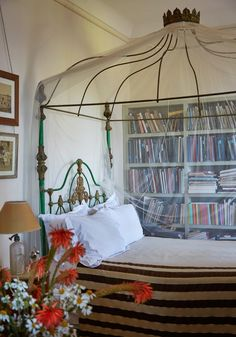 """Exclusive images from the photographer's new book.The guest room of Gibbs's home overlooks the Strait of Gibraltar. From """"Haute Bohemians"""" by Miguel Flores-Vianna, 2017. Used with permission from Vendome."""