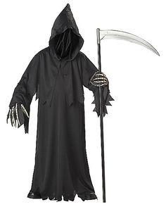 Grim Reaper Deluxe Child Costume - Spirithalloween.com