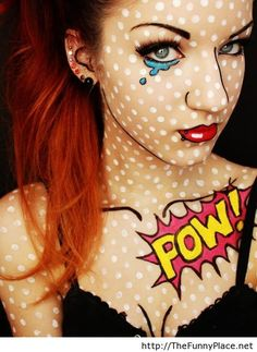 Funny comic makeup - Funny Pictures, Awesome Pictures, Funny Images and Pics