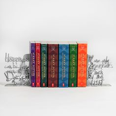 """Happiness Can Be Found..."" Collector's Edition Decorative Bookends - Silver"