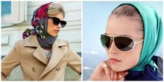 Как завязать платок на голове — красиво, стильно, современно