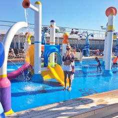 MSC Sinfonia spray park Spray Park, Msc Cruises, Travel Reviews, Cruise Tips, Dubai, Transportation, Tours, Vacation, Outdoor Decor
