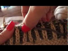 ▶ 2-Color Brioche Knitting on Circular Needles - YouTube. This helped me so much!