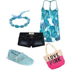 """Summer Blues"" by tayszebras on Polyvore"