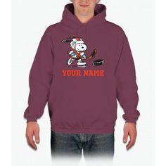 Snoopy Hockey - Personalized Hooded Sweatshirt
