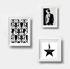 Set Silhouette Sherlock, Watson Wallpaper ornament, Moriarty Quote Stayin' Alive TV Series Cross-stitch PDF pattern Instant digital download by Up2XStitch on Etsy