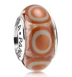 Orange Stepping Stone Pandora Charm