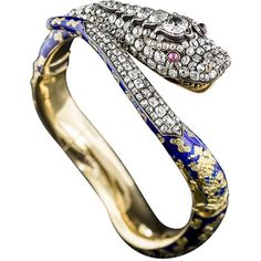 Preowned Victorian Enamel Diamond Gold Snake Bangle Bracelet ($22,500) ❤ liked on Polyvore featuring jewelry, bracelets, multiple, diamond bangle bracelet, gold hinged bangle, bangle bracelet, engraved bangle bracelet and diamond jewelry