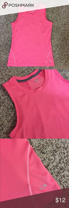 """Champion Hot Pink Workout Tank 15.5"""" bust and 22.5"""" length. 100% polyester Champion Tops Tank Tops"""