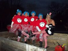 Drunk Things and Sexy Cat in the Hat Group Costume... This website is the Pinterest of costumes