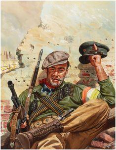 Mort Künstler (Hungarian Resistance Fighter, Adventure cover, April 1957)