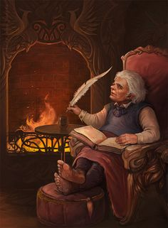 Bilbo in Rivendell by CG-Warrior.deviantart.com on @deviantART