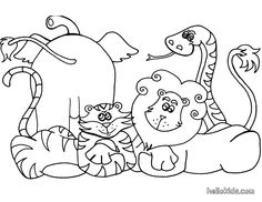 71 best the big five images on Pinterest   Colouring pages for kids ...