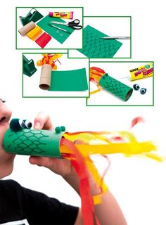 With this funny dragon every party will be a hit!pa …, … With this funny dragon every party will be a hit! Crafts For Teens To Make, Diy Crafts To Do, New Year's Crafts, Diy For Kids, Dragon Birthday Parties, Dragon Party, Castle Crafts, Fairy Tale Crafts, Funny Dragon