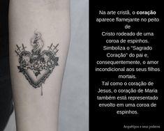 Coração Sagrado Facebook Sign Up, Christ, Crown Of Thorns, Wreath Tattoo, Tattoo Meanings, Tattoos, Tatoo