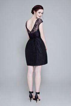 A line black dress uk