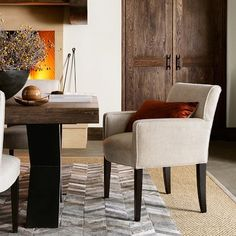 """25"""" w x 34"""" h - might be compact enough to give everyone an armchair  (Many fabrics)   Fitzgerald Armchair"""