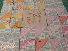 Stitchy Quilt Stuff: Winged Square Quilt Block