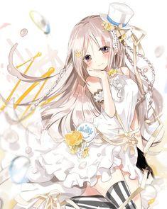 Anime art kawaii cute girl 1204AR