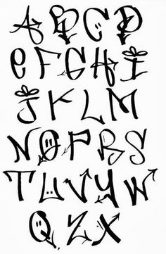 1 Graffiti Alphabet, Graffiti Lettering Fonts, Tattoo Lettering Fonts, Creative Lettering, Lettering Styles, Hand Lettering, Cool Graffiti Letters, Graffiti Pictures, Typography Sketch