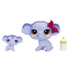 """Littlest Pet Shop Pet and Friend - Elephant and Baby Elephant -  Hasbro - Toys""""R""""Us"""
