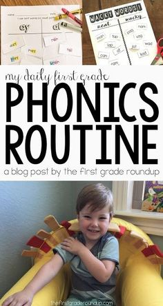 Read how phonics went from my most dreaded subject to my favorite thing to teach in first grade! Plus, get a peek into my weekly routine for phonics. Phonics Lessons, Teaching Phonics, Phonics Activities, Reading Activities, Teaching Reading, How To Teach Phonics, Guided Reading, Teaching Ideas, Reading Fluency